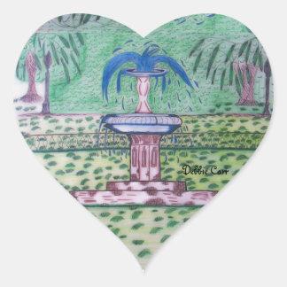 Forsythe Park-heart sticker