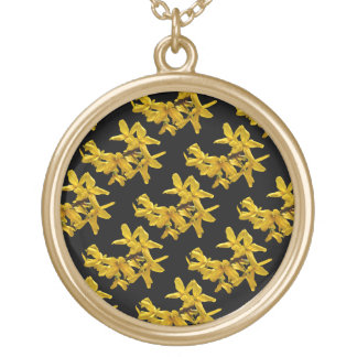 Forsythia Abstract Necklace