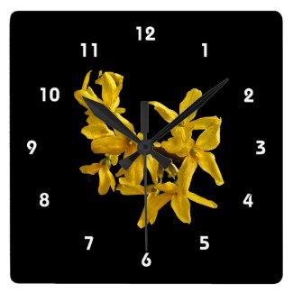 Forsythia Clock
