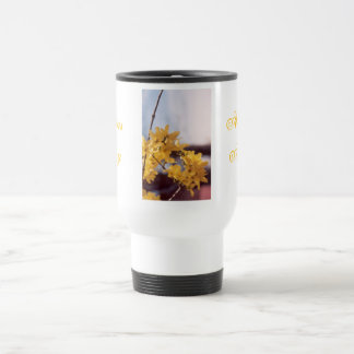 Forsythia Close Up Travel Mug
