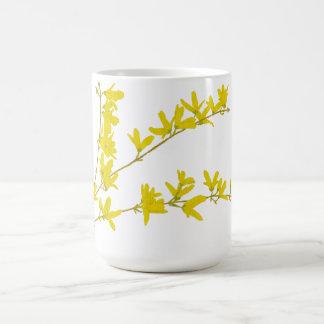 Forsythia de la primavera taza de café