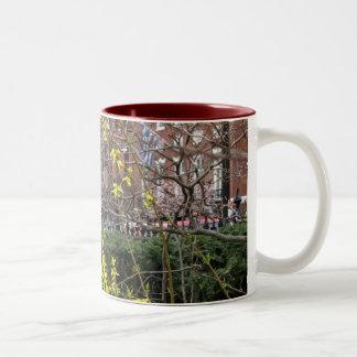 Forsythia Two-Tone Coffee Mug