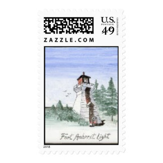 Fort Amherst Lighthouse Postage Stamps