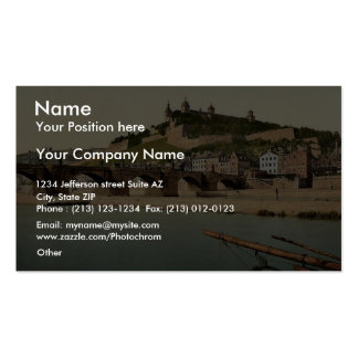 Fort and old bridge, Wurzburg, Bavaria, Germany vi Double-Sided Standard Business Cards (Pack Of 100)
