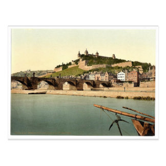 Fort and old bridge, Wurzburg, Bavaria, Germany vi Postcard
