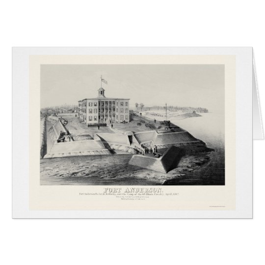 Fort Anderson in Paducah, KY 1862 Card