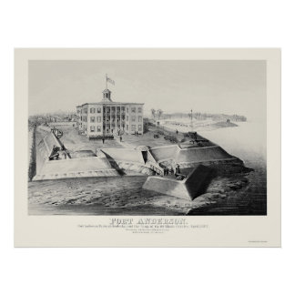 Fort Anderson in Paducah, KY 1862 Print