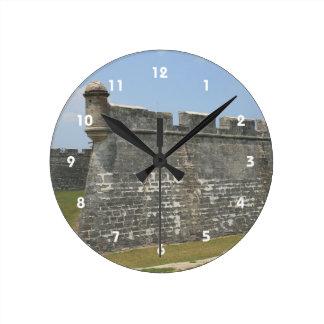 Fort at St Augustine Corner view Round Clock