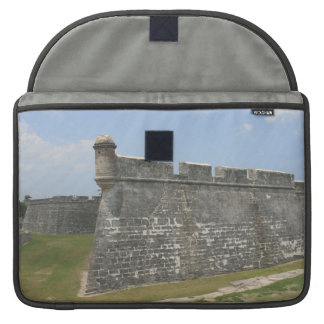 Fort at St Augustine Corner view Sleeve For MacBooks