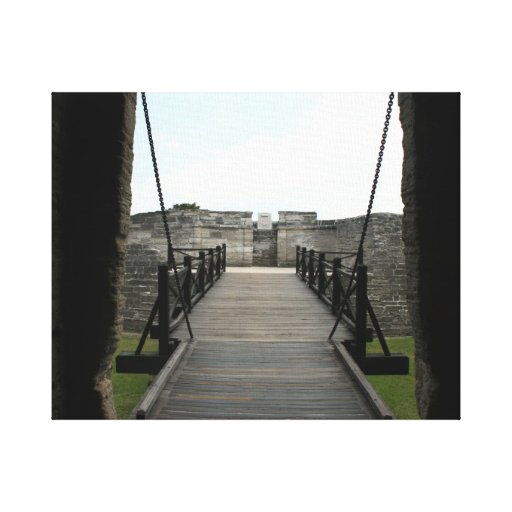 Fort at st augustine looking from castle canvas print