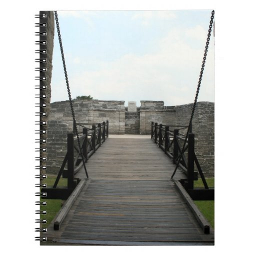 Fort at st augustine looking from castle spiral note books