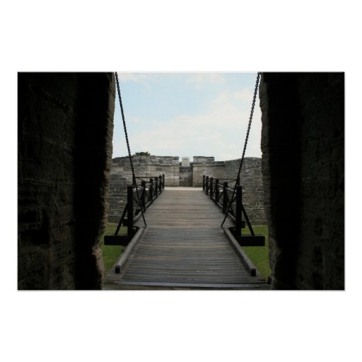 Fort at st augustine looking from castle poster