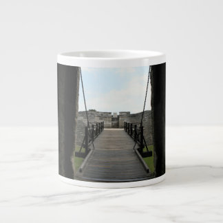 Fort at st augustine looking from castle 20 oz large ceramic coffee mug