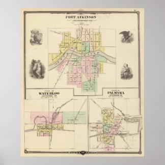 Fort Atkinson, Waterloo and Palmyra, Jefferson Co Poster