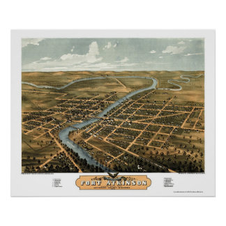 Fort Atkinson WI Panoramic Map - 1870 Posters