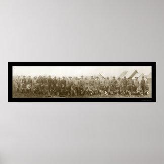 Fort Benjamin Officers Photo 1910 Poster