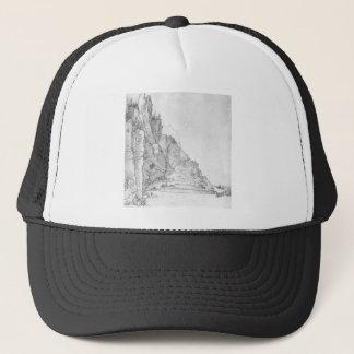 Fort between mountains and sea by Albrecht Durer Trucker Hat