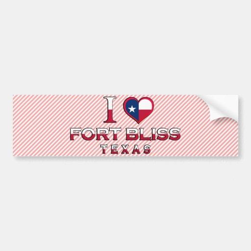 Fort Bliss, Texas Car Bumper Sticker