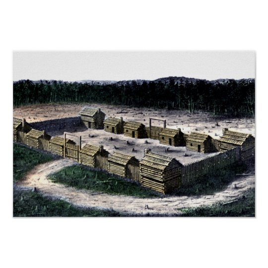 Fort Boonesborough Kentucky Historic Fort Diagram Poster Zazzle