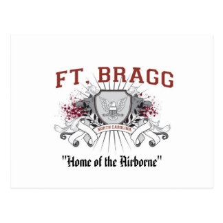 """Fort Bragg """"Home of the Airborne"""" Postcard"""