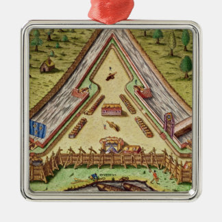 Fort Caroline, from 'Brevis Narratio' Metal Ornament