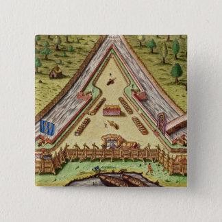Fort Caroline, from 'Brevis Narratio' Pinback Button