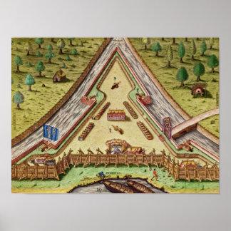 Fort Caroline, from 'Brevis Narratio' Poster