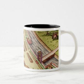 Fort Caroline, from 'Brevis Narratio' Two-Tone Coffee Mug