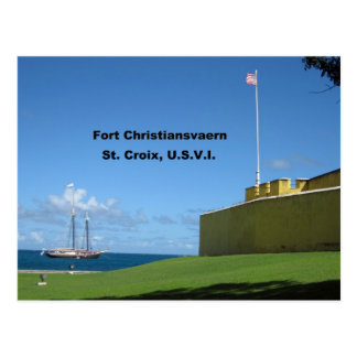 Fort Christiansvaern, St. Croix Postcard