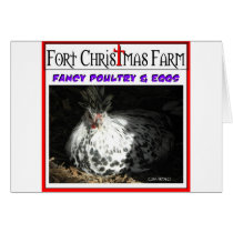 Fort Christmas Farm related items Card