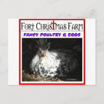 Fort Christmas Farm related items Holiday Postcard