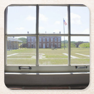 Fort Clinch Square Paper Coaster