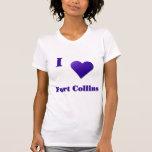 Fort Collins -- Azul de medianoche Camisetas