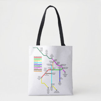 Fort Collins Bike Map Tote Bag