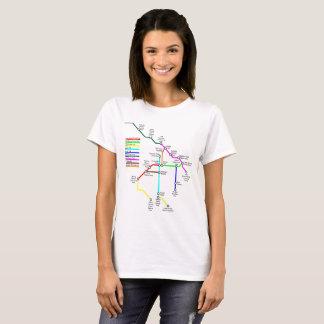 Fort Collins Bike Map Women's T-Shirt