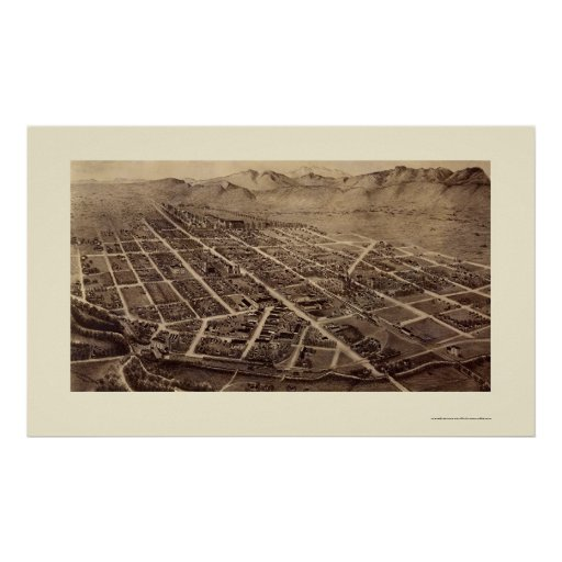 Fort Collins, CO Panoramic Map - 1899 Posters