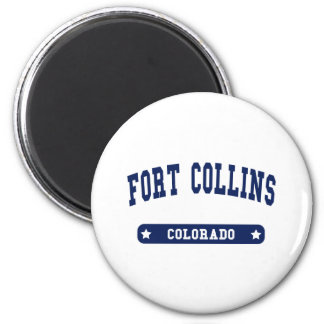 Fort Collins Colorado College Style tee shirts 2 Inch Round Magnet