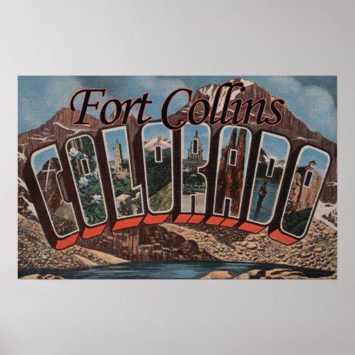 Fort Collins, Colorado - escenas grandes de la let Impresiones