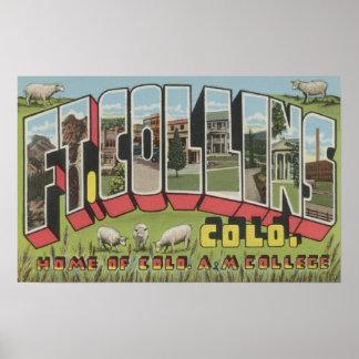 Fort Collins, Colorado - escenas grandes de la let Póster