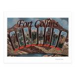 Fort Collins, Colorado - Large Letter Scenes Post Card