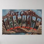 Fort Collins, Colorado - Large Letter Scenes Poster