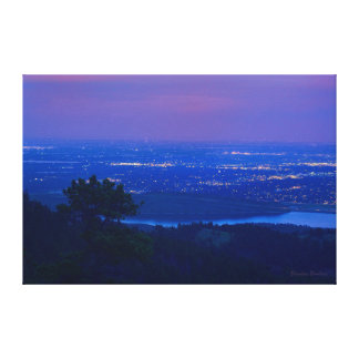 Fort Collins from Horsetooth Mountain at Dusk Canvas Print