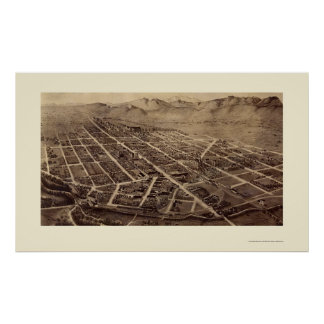 Fort Collins, mapa panorámico del CO - 1899 Poster