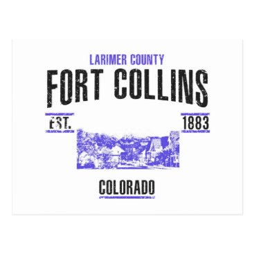 USA Themed Fort Collins Postcard