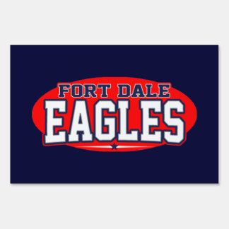 Fort Dale Academy; Eagles Lawn Sign