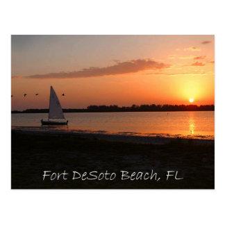 Fort DeSoto Sunset Postcard