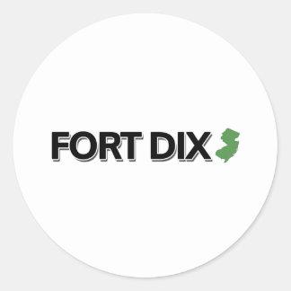 Fort Dix, New Jersey Pegatina Redonda