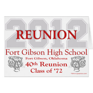 Fort Gibson 40th Reunion Card