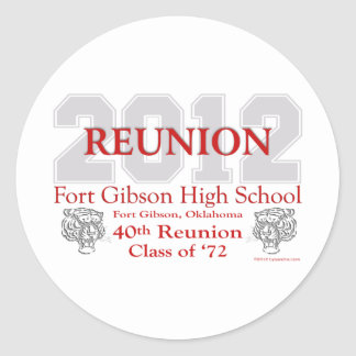 Fort Gibson 40th Reunion Stickers