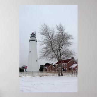 Fort Gratiot Light in Winter 5 Posters